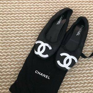 Chanel Cambon Quilted Ballet Flats 42